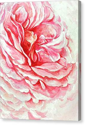 Canvas Print featuring the painting Rose Reflection 3 by Sandra Phryce-Jones