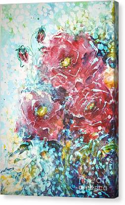 Rose Summer Delight Canvas Print by Kathleen Pio