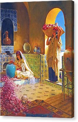 Rose Water Canvas Print by Munir Alawi