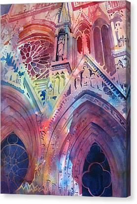 Rose Window Canvas Print