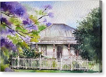 Roseabellas House Bellingen Canvas Print
