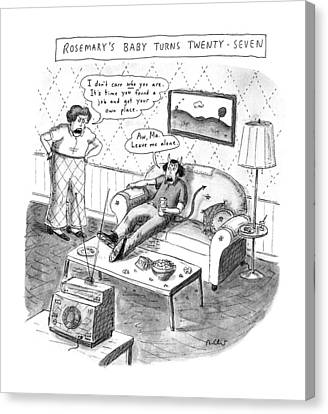 Rosemary's Baby Turns Twenty-seven Canvas Print by Roz Chast