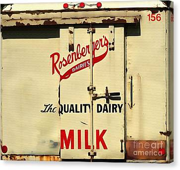 Rosenberger's - Dairy Milk  Canvas Print by Liane Wright