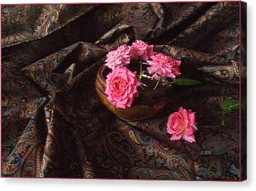 Roses And Paisley Canvas Print