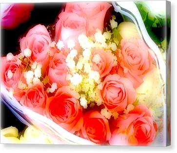 Canvas Print featuring the photograph Roses Are Red. by Ira Shander