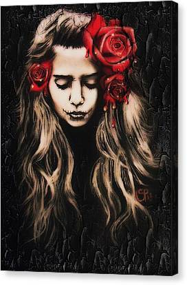 Roses Are Red Canvas Print by Sheena Pike