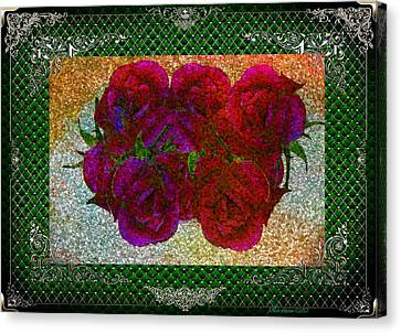 Roses- Featured In Beautiful Roses And Comfortable Art Groups Canvas Print by EricaMaxine  Price