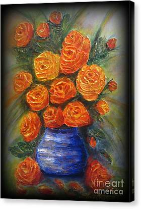 Roses For You Canvas Print by Elena  Constantinescu