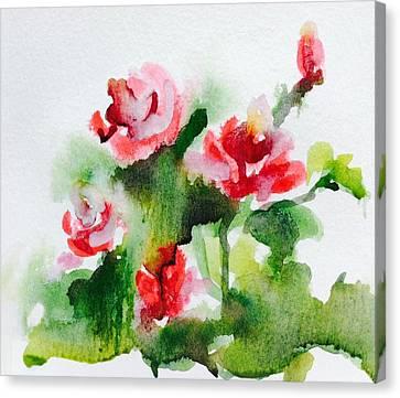 Roses Garden 3 Canvas Print by Hae Kim