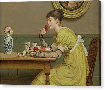 Love Laces Canvas Print - Roses by George Dunlop Leslie