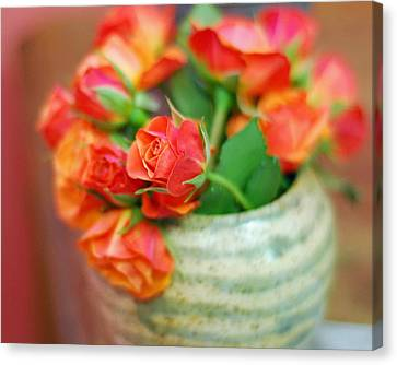 Canvas Print featuring the photograph Roses by Lisa Phillips