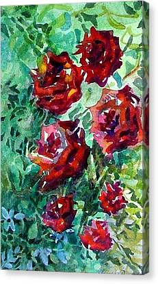Roses Canvas Print by Mindy Newman