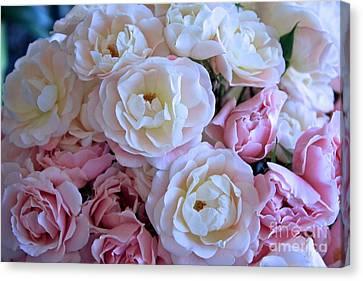 Dressing Room Canvas Print - Roses On The Veranda by Carol Groenen