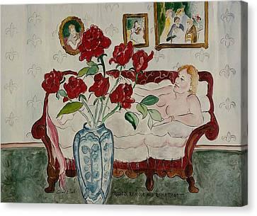 Roses Renoir And Rembrandt Canvas Print