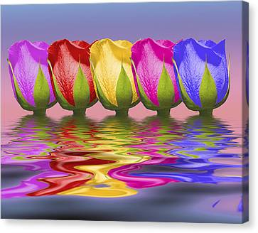 Roses Rising Canvas Print by Tom Mc Nemar