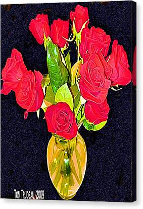 Culinary Canvas Print - Roses by Tommi Trudeau