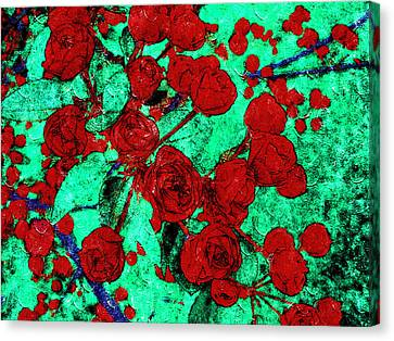 The Red Roses Canvas Print