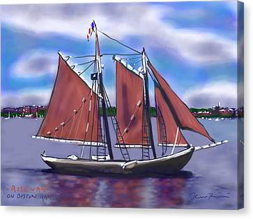 Roseway On Boston Harbor Canvas Print