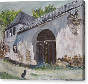 Rosia Montana Old House Canvas Print by Maria Karalyos