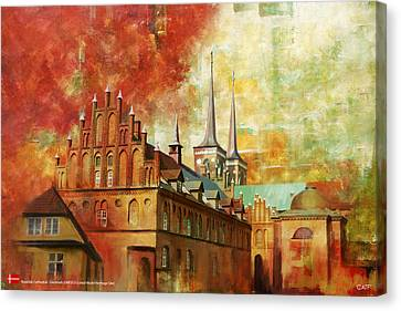 Roskilde Cathedral Canvas Print by Catf