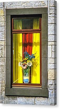 Roslin Window Canvas Print by Ross Henton