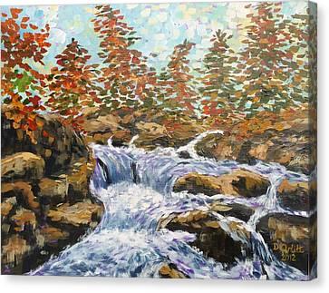 Rosseau Falls Canvas Print by Diane Arlitt