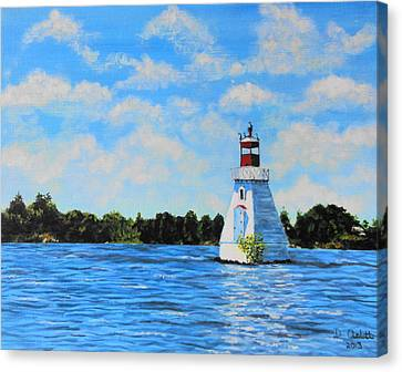 Rosseau Lighthouse Canvas Print