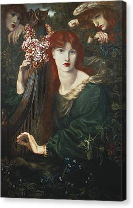Rossetti, Dante Gabriel 1828-1882. La Canvas Print by Everett