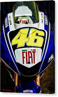 Rossi Yamaha Canvas Print