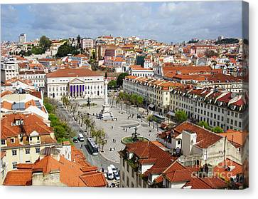 Rossio Square Canvas Print