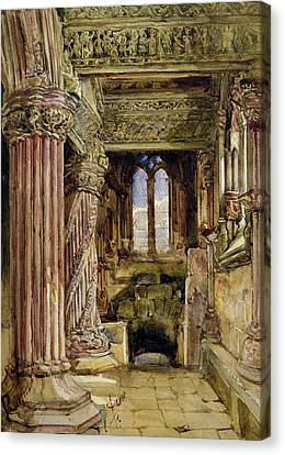 Rosslyn Chapel, Scotland Canvas Print by Alexander Jnr Fraser
