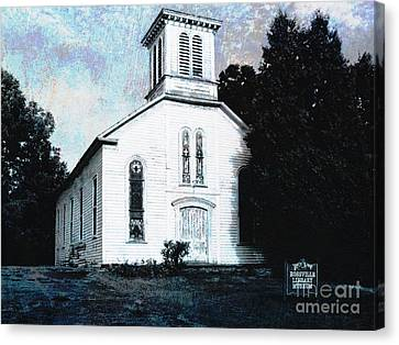 Rossville Church And Cemetery Canvas Print