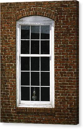 Roswell Window Canvas Print by Tom Wooldridge