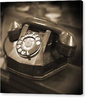 Rotary Phone Canvas Print by Mike McGlothlen