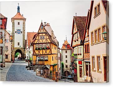 Rothenburg Canvas Print by Jen Morrison