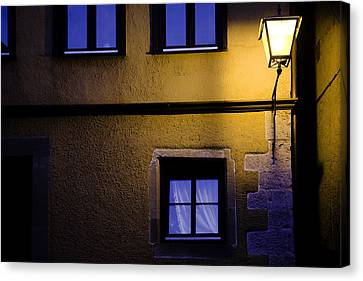 Rothenburg By Night Canvas Print by Joanna Madloch