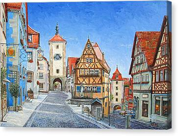 Rothenburg Germany Canvas Print by Mike Rabe