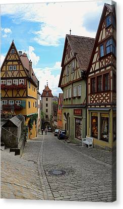 Rothenburg Ob Der Tauber Canvas Print by Corinne Rhode