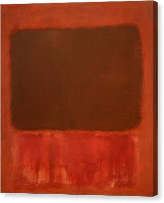 Rothko's Mulberry And Brown Canvas Print by Cora Wandel