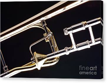 Rotor Tenor Trombone On Black In Color 3464.02 Canvas Print
