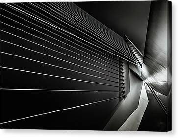 Diagonal Canvas Print - Rotterdam - Cable Style by Michael Jurek