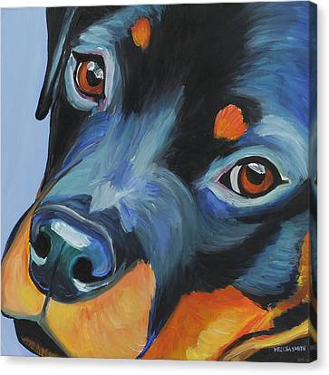 Rottweiler Canvas Print by Melissa Smith