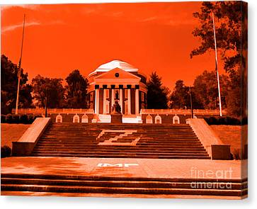 Rotunda Uva Orange Canvas Print by Nigel Fletcher-Jones