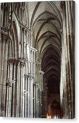 Canvas Print featuring the photograph Rouen by Mary Bedy