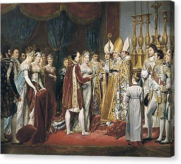 Marie-louise Canvas Print - Rouget, Georges 1784-1869. The Marriage by Everett