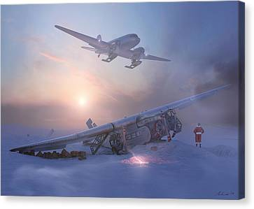 Rough Night At The North Pole Canvas Print