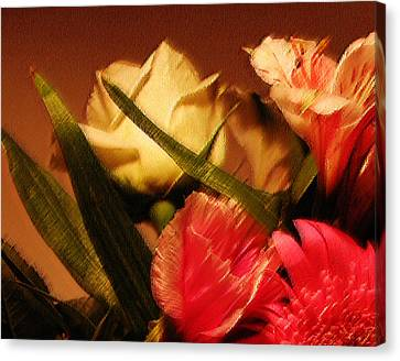 Rough Pastel Flowers - Award-winning Photograph Canvas Print by Gerlinde Keating - Galleria GK Keating Associates Inc