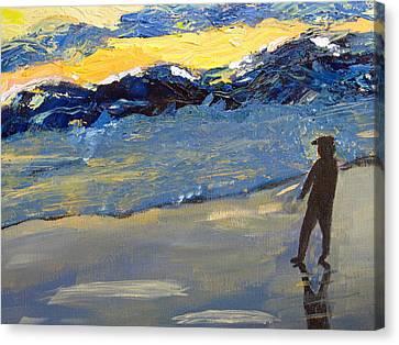 Rough Seas Canvas Print by Lou Belcher