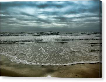Rough Surf Canvas Print by Ellen Heaverlo