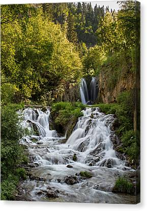 Canvas Print featuring the photograph Roughlock Falls South Dakota by Patti Deters